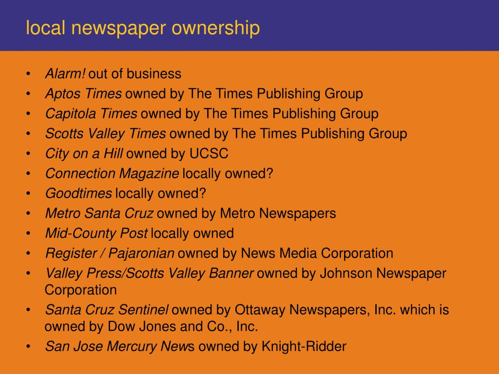 local newspaper ownership