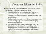 center on education policy