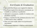 exit exams graduation