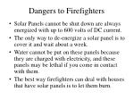 dangers to firefighters