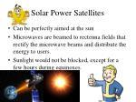 solar power satellites