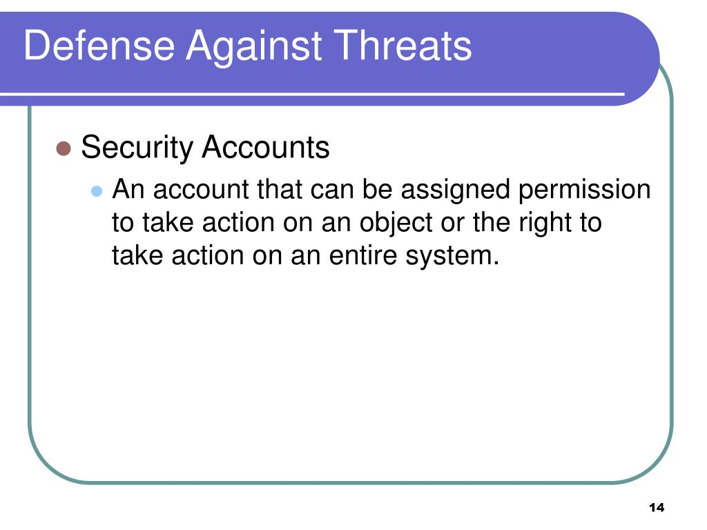 Defense Against Threats