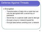 defense against threats17