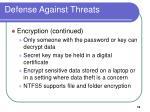 defense against threats18