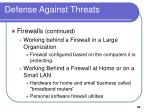 defense against threats20