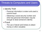 threats to computers and users6