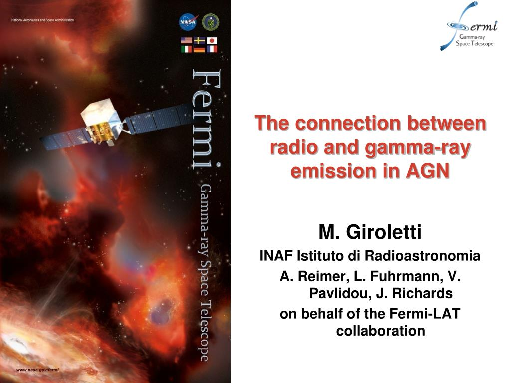 the connection between radio and gamma ray emission in agn l.