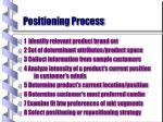 positioning process