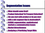 segmentation issues