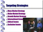 targeting strategies