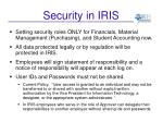security in iris4