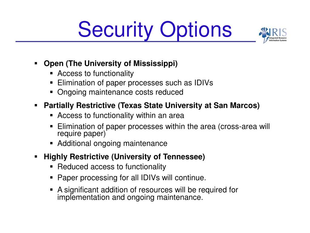 Security Options