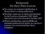 background the harry potter lexicon6