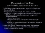 comparative fair use how would the lexicon fare in the e u3