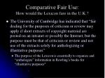 comparative fair use how would the lexicon fare in the u k3