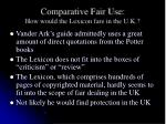 comparative fair use how would the lexicon fare in the u k5