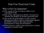 fair use overview cont