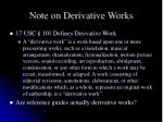 note on derivative works
