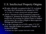 u s intellectual property origins