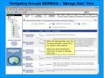 navigating through mermaid manage data view