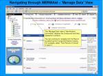 navigating through mermaid manage data view65