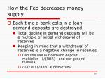 how the fed decreases money supply