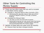 other tools for controlling the money supply32