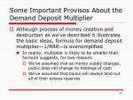 some important provisos about the demand deposit multiplier