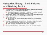 using the theory bank failures and banking panics