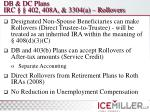 db dc plans irc 402 408a 3304 a rollovers