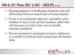 db dc plans irc 402 helps cont d11