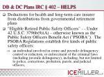 db dc plans irc 402 helps
