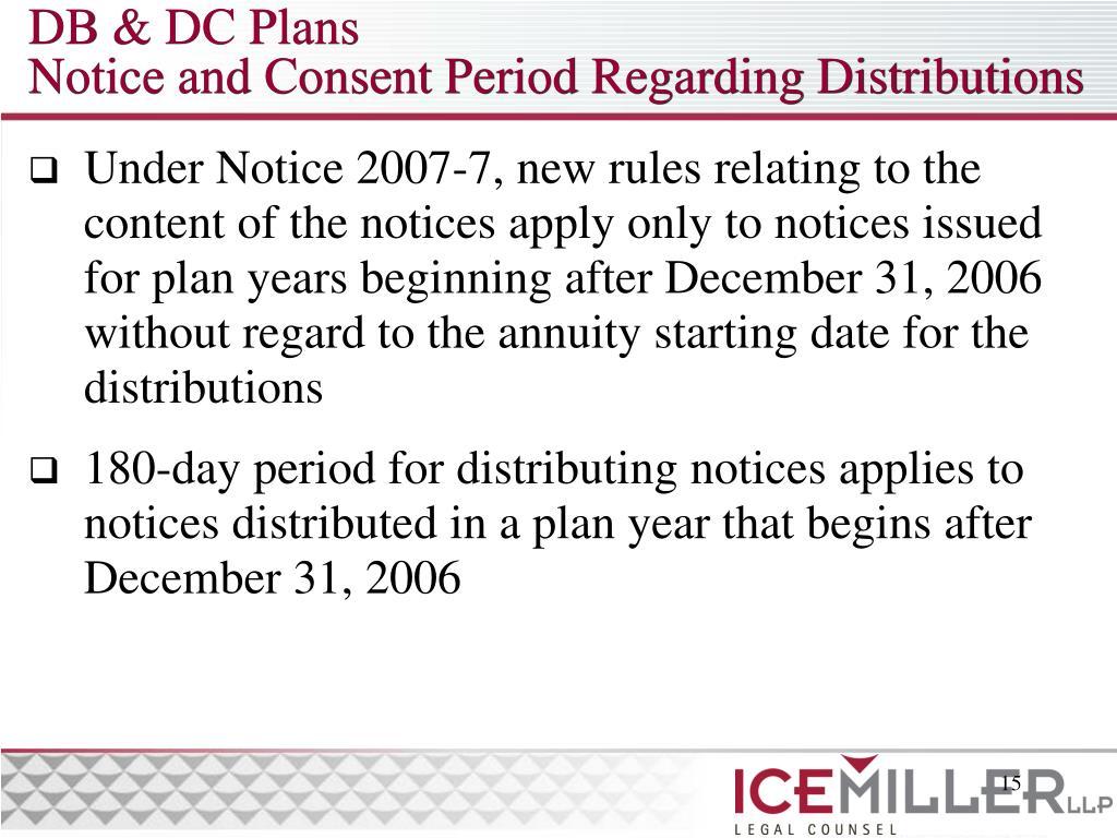 DB & DC Plans