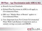 db plans age discrimination under adea 4 i