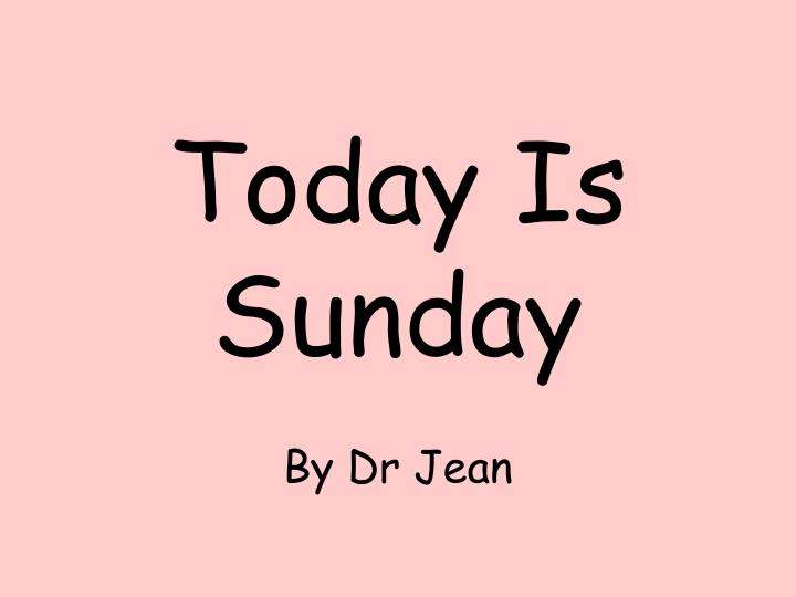 today is sunday n.