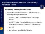 implementation of ejb client functionality advanced topics46