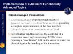 implementation of ejb client functionality advanced topics47
