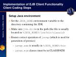 implementation of ejb client functionality client coding steps30