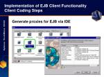 implementation of ejb client functionality client coding steps33