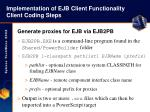 implementation of ejb client functionality client coding steps34