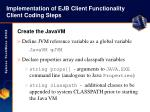 implementation of ejb client functionality client coding steps36
