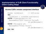 implementation of ejb client functionality client coding steps41