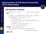 implementation of ejb client functionality client coding steps42