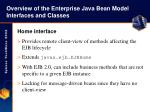 overview of the enterprise java bean model interfaces and classes