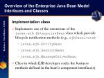 overview of the enterprise java bean model interfaces and classes10