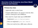 overview of the enterprise java bean model interfaces and classes11