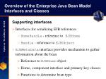 overview of the enterprise java bean model interfaces and classes12