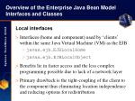 overview of the enterprise java bean model interfaces and classes9