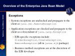 overview of the enterprise java bean model13