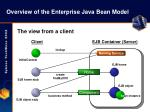 overview of the enterprise java bean model14